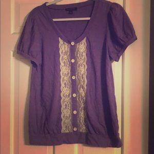 Banana Republic purple with lace